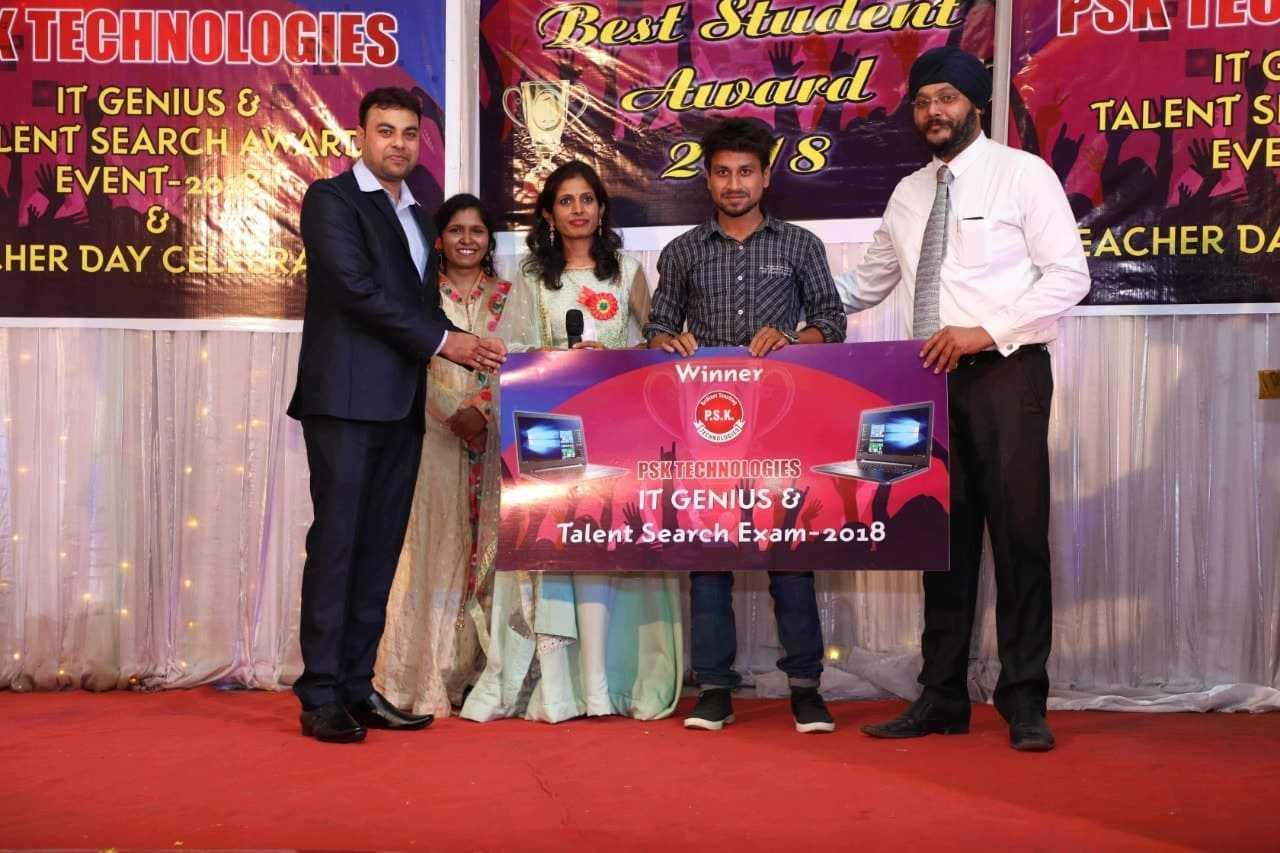 1st rank in psk technologies nagpur