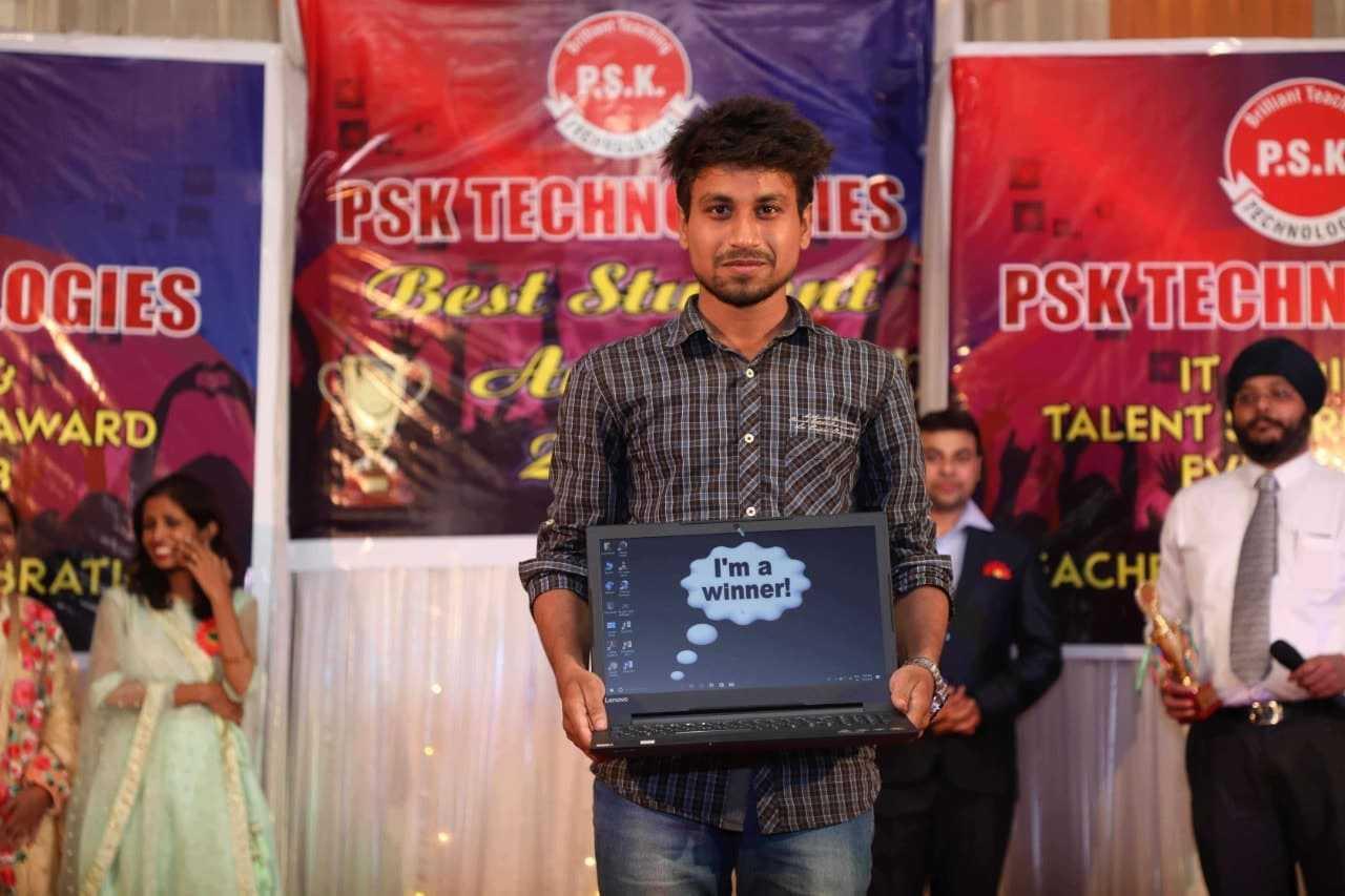 1st ranker in psk technologies nagpur