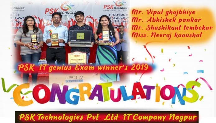 PSK IT Genius & Talent Search Exam Winners 2019